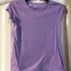 Other - Girls purple tee with silver shimmer